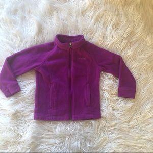 Purple Columbia Fleece Zip Up Jacket Size 4T